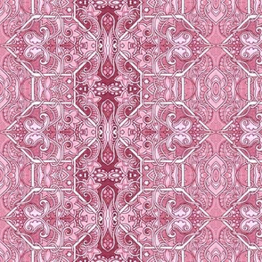 Paisley Gets Hexed (red/pink)