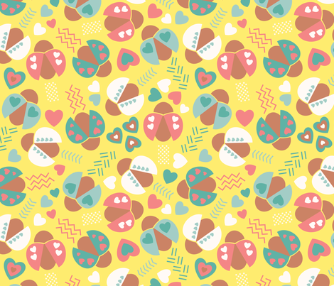 The_Love_Bugs fabric by bojudesigns on Spoonflower - custom fabric