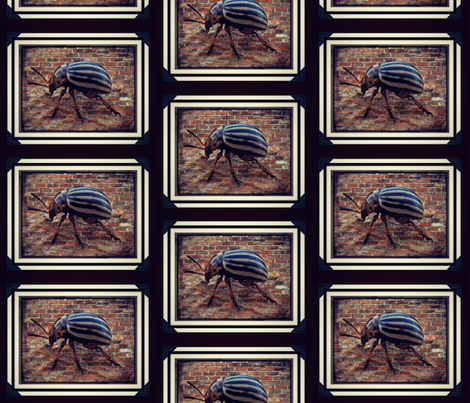 Brick Beetle fabric by lostdollie on Spoonflower - custom fabric