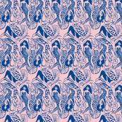 Mermaid coral navy