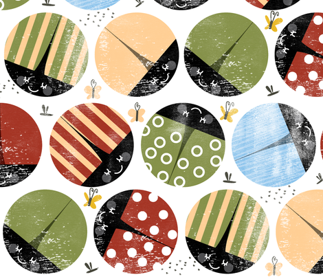 bugsb fabric by laura_the_drawer on Spoonflower - custom fabric