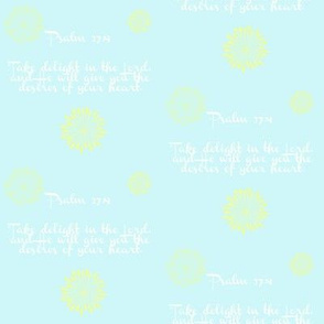 psalm 37:4 - aqua