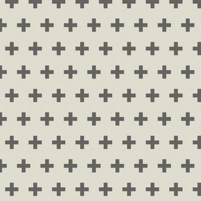 Dark Grey and Light Grey Swiss Cross