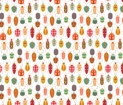 Happy Beetles fabric by katerhees on Spoonflower - custom fabric