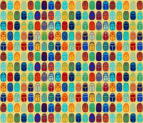 Scarabs fabric by mongiesama on Spoonflower - custom fabric