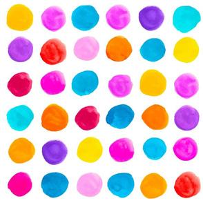 polka dot multicolor