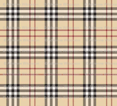British Plaid Fabric Fluffycloudcouture Spoonflower