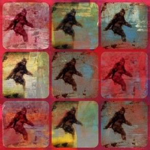 Bigfoot walking painted