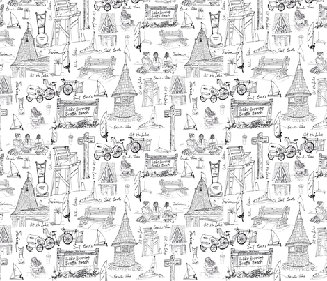 At_the_Lake fabric by collage on Spoonflower - custom fabric