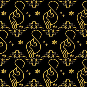 SASSY CAT DAMASK