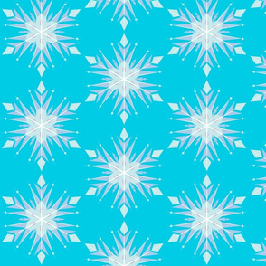 Inspired LBlue Snow flakes
