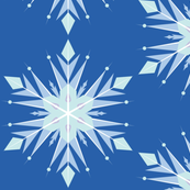 Frozen Inspired Blue Snow flakes