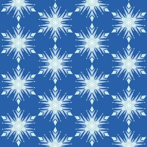 Inspired Elsa Blue Snow flakes