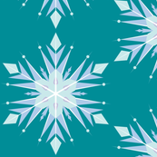 Frozen Inspired Teal Snow flakes