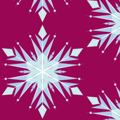 Inspired Snowflakes Magenta