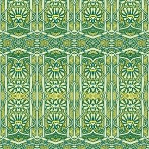 Deco Nouveau Flower Pop in Green