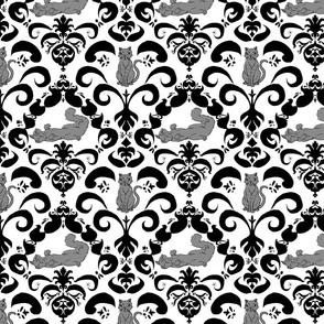 Kitty Damask (dark gray)