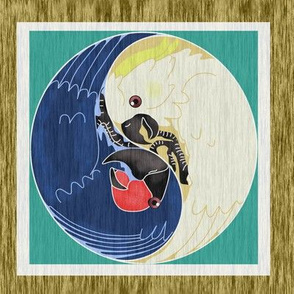 Yin Yang Cockatoos on Wood 2