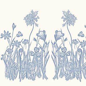 Floral Blue Garden Graphic