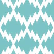 Navajo Ikat2-Turquoise & White