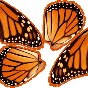 Oversized Monarch Costume Wings