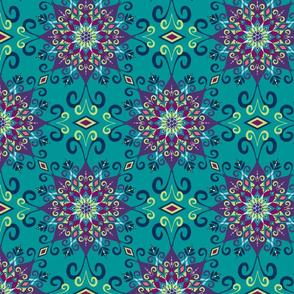 Blooming Mandala-Turquoise