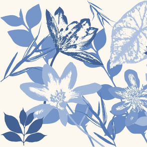 Blue Graphic Flora