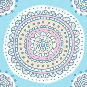 medallion - blue