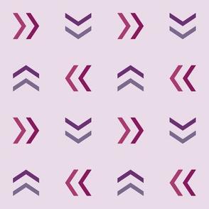 Purple Cheverons - Small