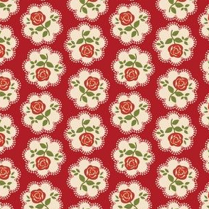 Shabby Chic Rose Red