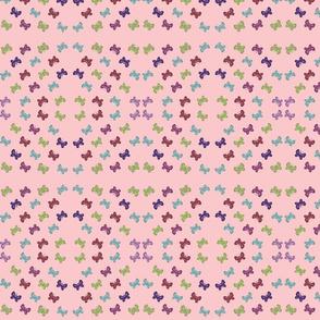butterfly garden quilt pink