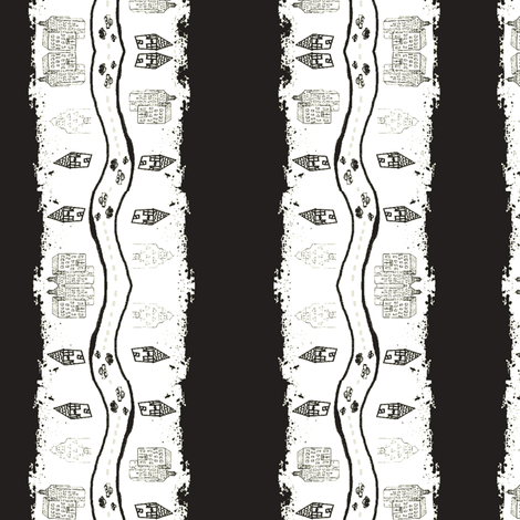 city stripes-blk wht-tie dye fabric by drapestudio on Spoonflower - custom fabric