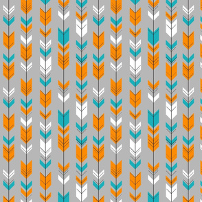 Fletching arrows (small scale) // teal/orange/white/grey
