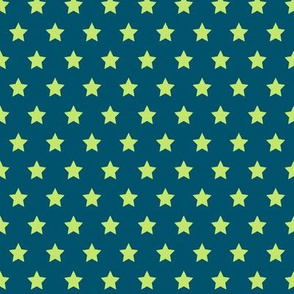 Green Stars on Navy- Small