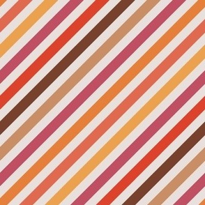 Autumn - Diagonal Stripes