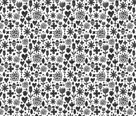 Sketch Flowers fabric by kostolom3000 on Spoonflower - custom fabric