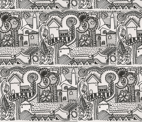neighbourhood fabric by marquesa on Spoonflower - custom fabric