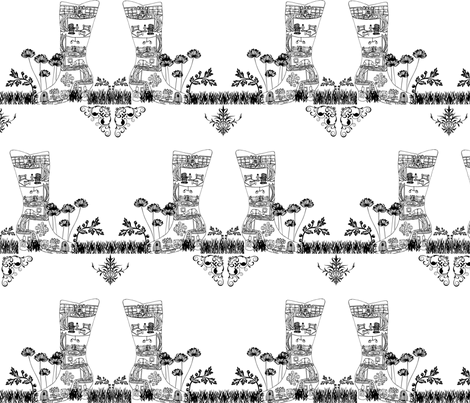 Mouse Neighborhood Sketch fabric by kfrogb on Spoonflower - custom fabric