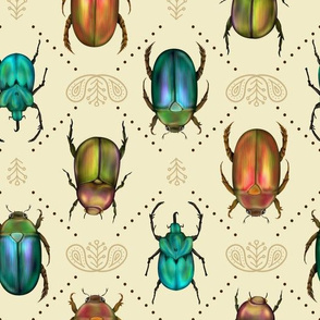 Beetle Bling - Bronze & Jade