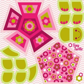 mini turtle pink