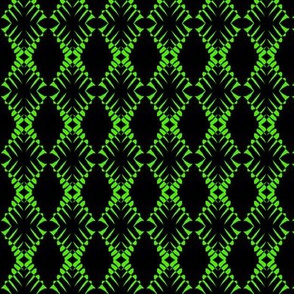 Zebras Green Black