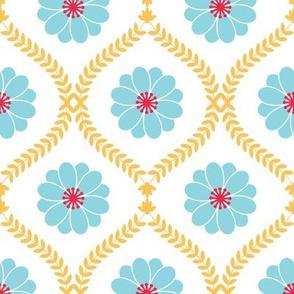 Modern floral damask