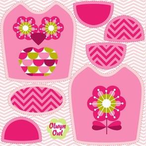 mini owl pink