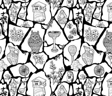 A walk in the neighborhood fabric by creativli on Spoonflower - custom fabric