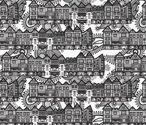 Liberty store, London fabric by kociara on Spoonflower - custom fabric
