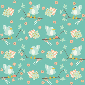 Busy Birds Sewing