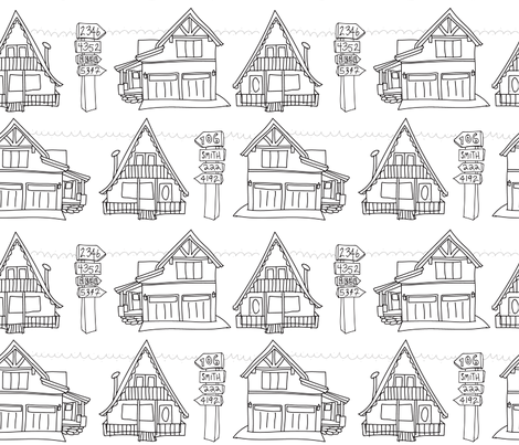Vail is my Neighborhood fabric by stephloren on Spoonflower - custom fabric