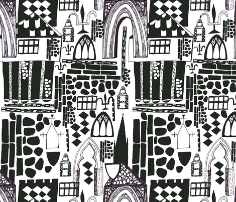 Medieval Norwich fabric by slumbermonkey on Spoonflower - custom fabric