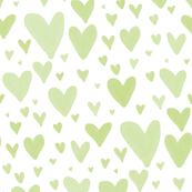 Tiny Hearts Scatter - Green