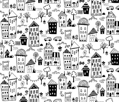 quaintville fabric by belinda_sigs on Spoonflower - custom fabric